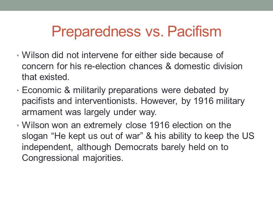 Preparedness vs.