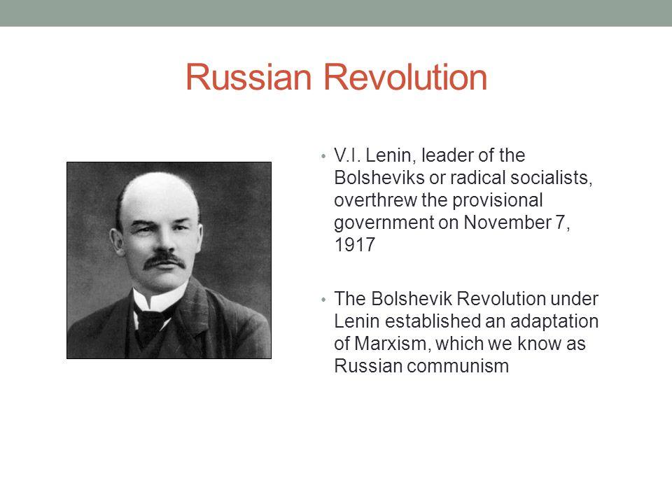 Russian Revolution V.I.