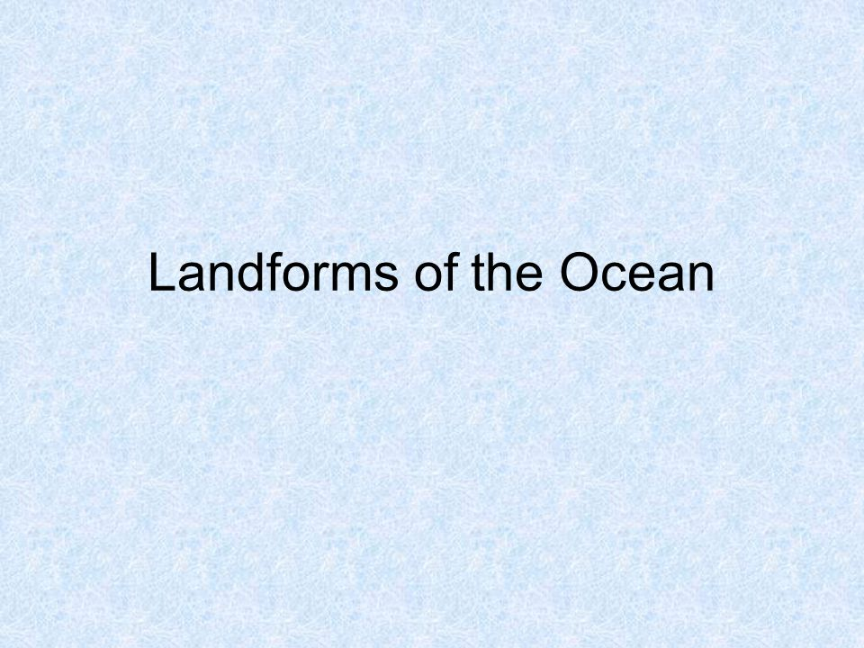 How do scientist know the landforms are there.