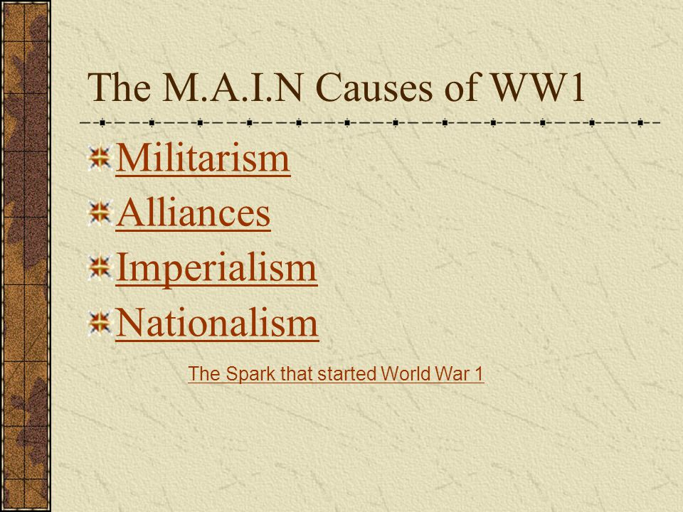 5.What is considered to be the spark that started World War 1.