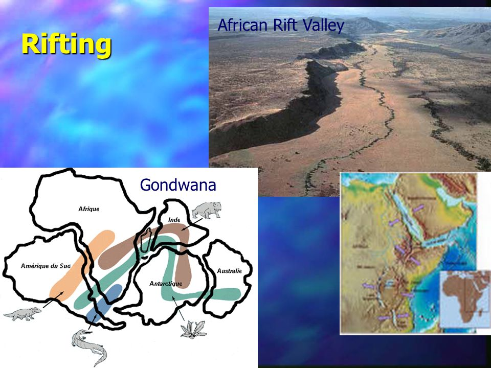 African Rift Valley Gondwana Rifting