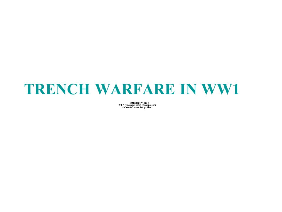 Trench warfare was a form of warfare which both sides would occupy fortified fighting lines.