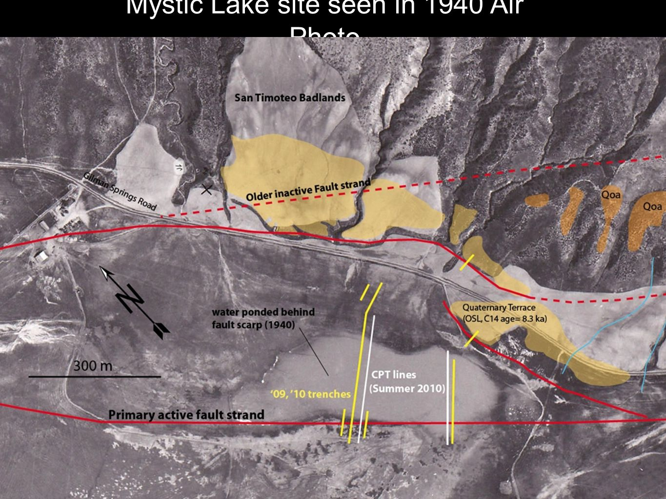 Mystic Lake site seen in 1940 Air Photo