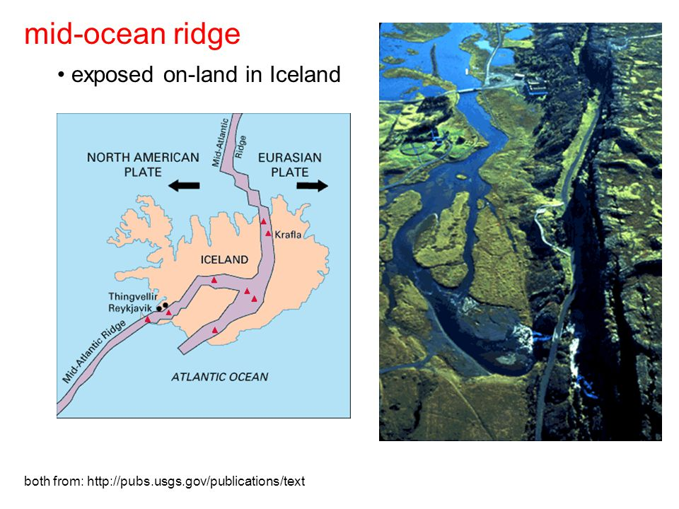 both from: http://pubs.usgs.gov/publications/text exposed on-land in Iceland mid-ocean ridge