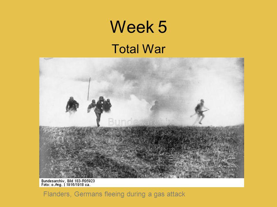 Week 5 Total War Flanders, Germans fleeing during a gas attack