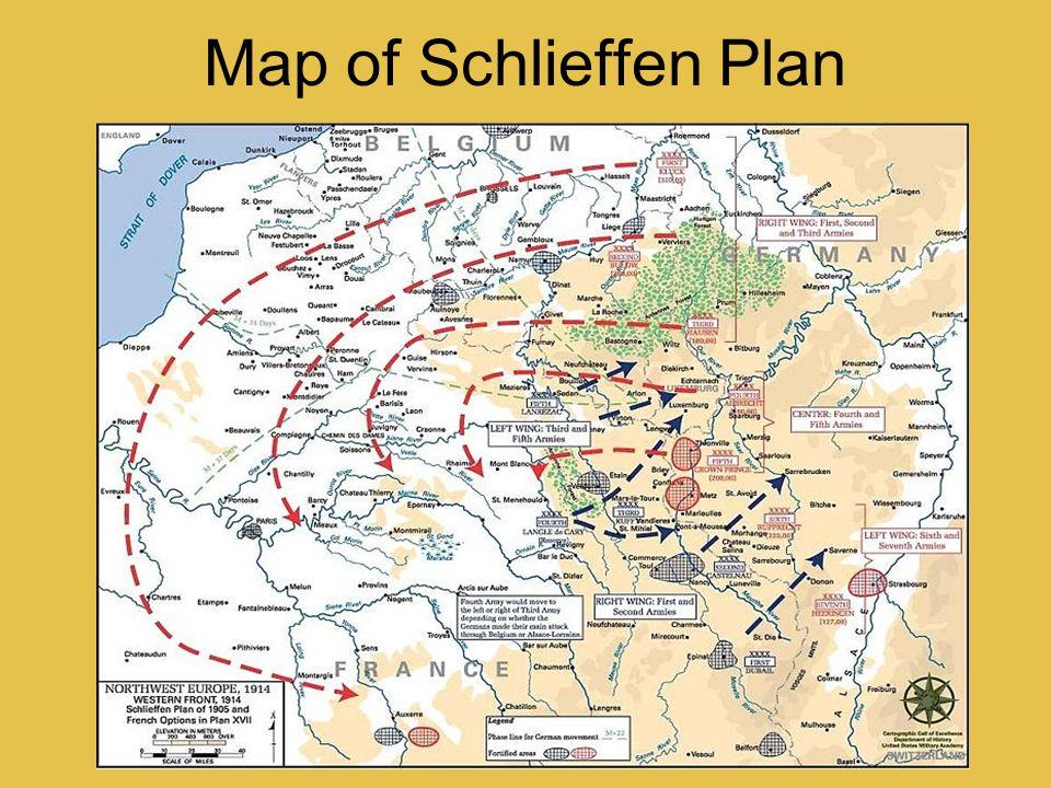 Map of Schlieffen Plan