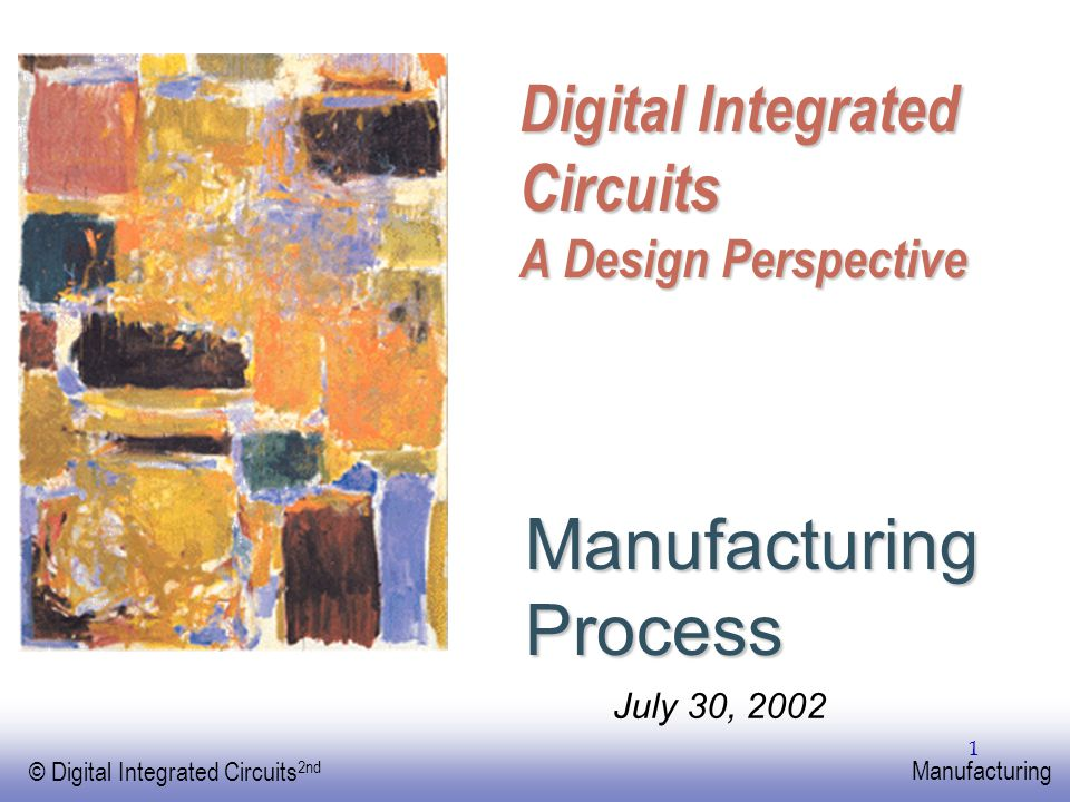 EE141 © Digital Integrated Circuits 2nd Manufacturing 32 Package Parameters