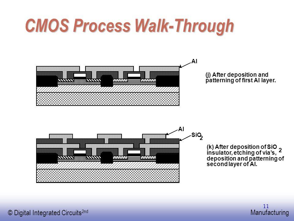 EE141 © Digital Integrated Circuits 2nd Manufacturing 11 CMOS Process Walk-Through