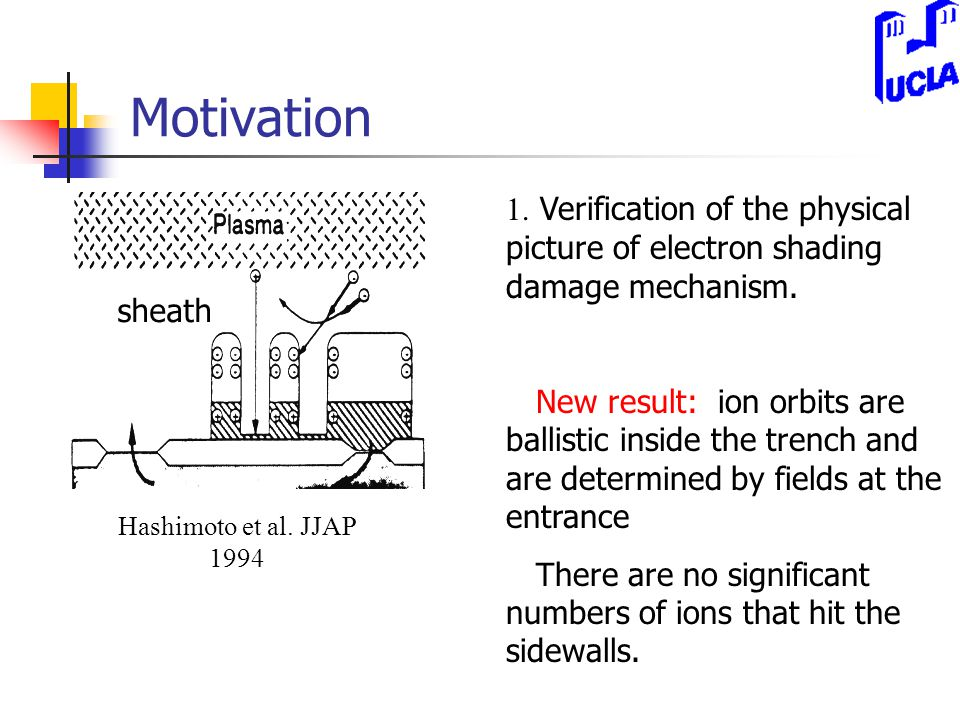 Motivation Hashimoto et al. JJAP 1994 sheath 1.