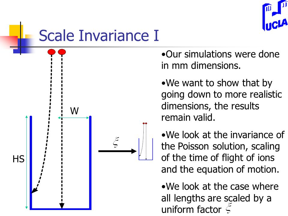 Scale Invariance I Our simulations were done in mm dimensions.