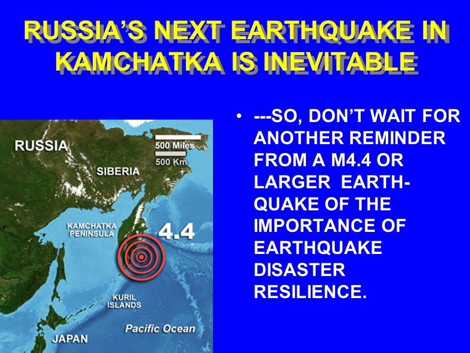 APRIL 29, 2006 KAMCHATKA EARTHQUAKE Several diesel electric power stations were damaged.
