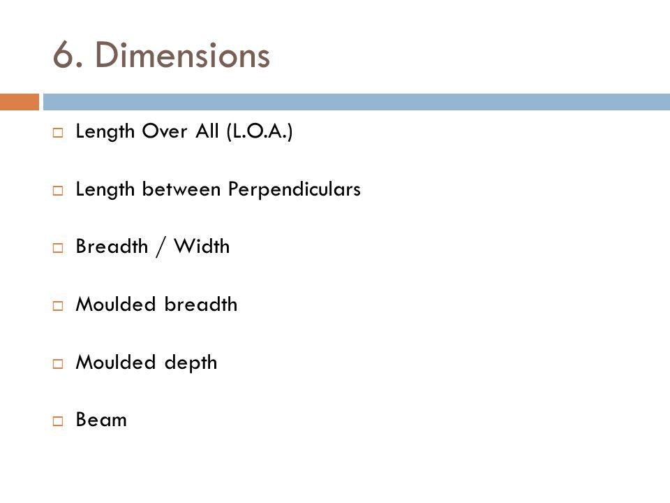 6. Dimensions