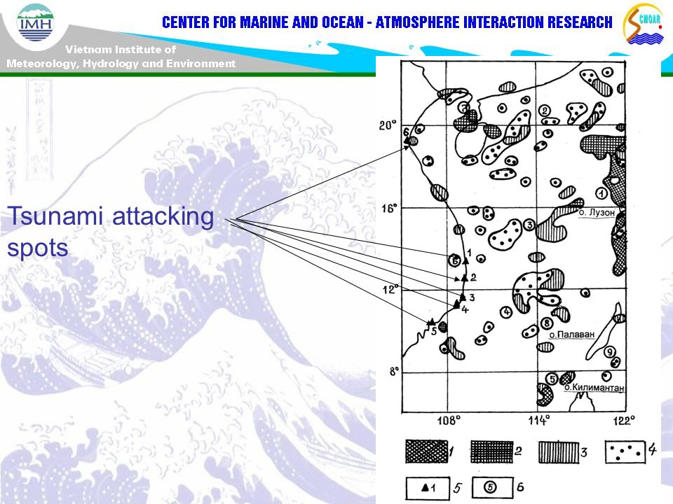 Tsunami attacking spots