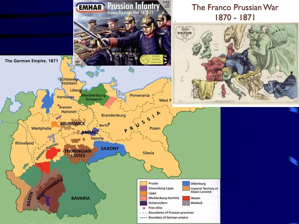 Nationalism- Germany & France Germany was feeling strong  military and new industrial growth France wanted to regain power as was before Congress of