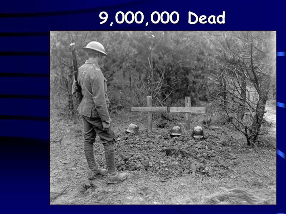 The Effects of War 8.5 – 9 million people died Over 17 million were wounded Pandemic (1918)- flu that killed 20 million http://firstworldwar.com/photo