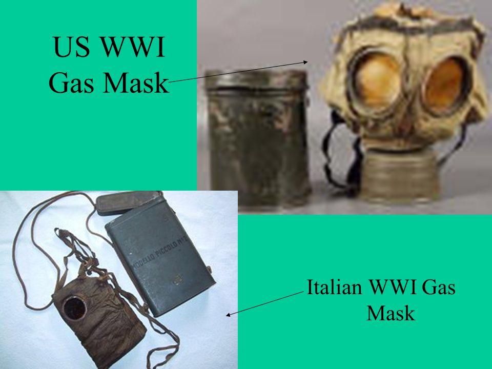 US WWI Gas Mask Italian WWI Gas Mask