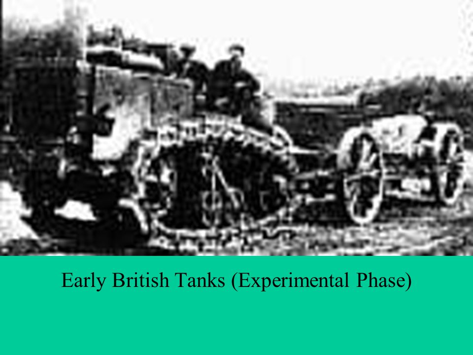 Tanks Early British Tanks (Experimental Phase)
