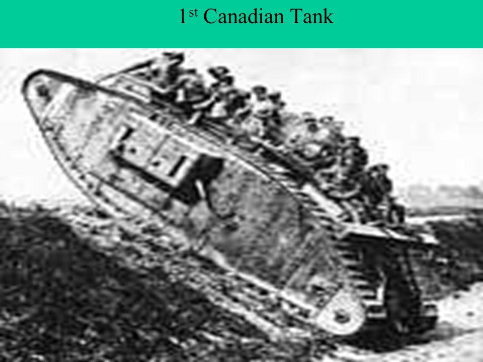 Tanks 1 st Canadian Tank