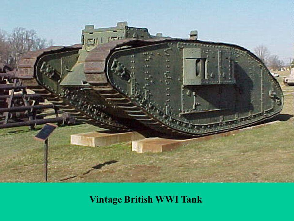 Vintage British WWI Tank