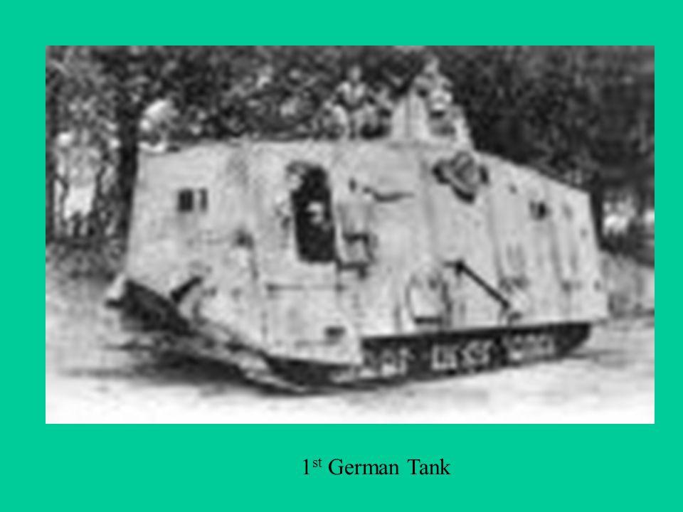 1 st German Tank