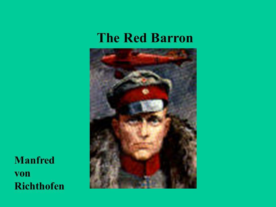 The Red Barron Manfred von Richthofen