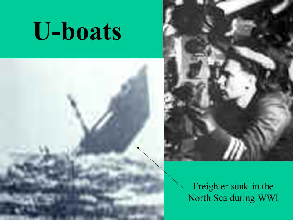 U-boats Freighter sunk in the North Sea during WWI