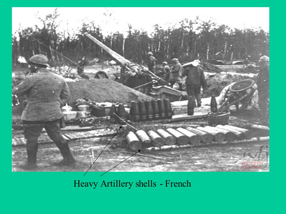 Heavy Artillery shells - French