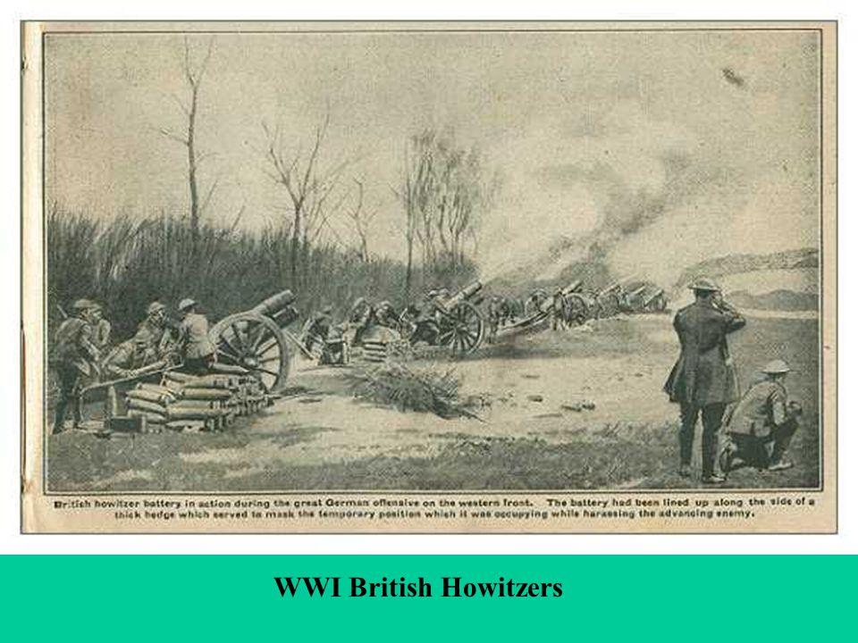Heavy Artillery WWI British Howitzers