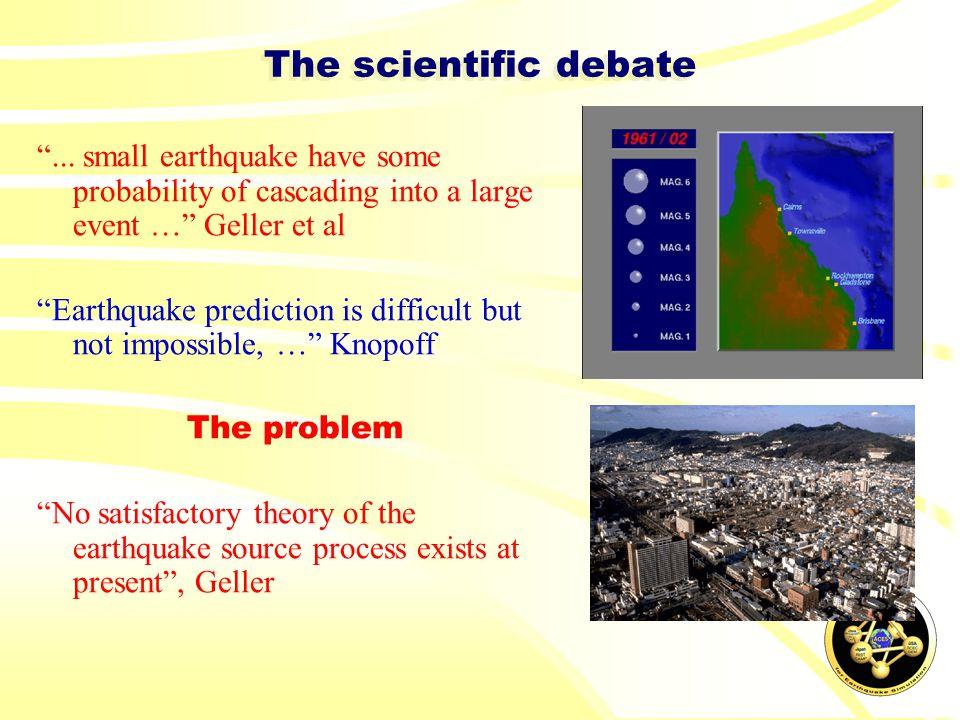 The scientific debate ...