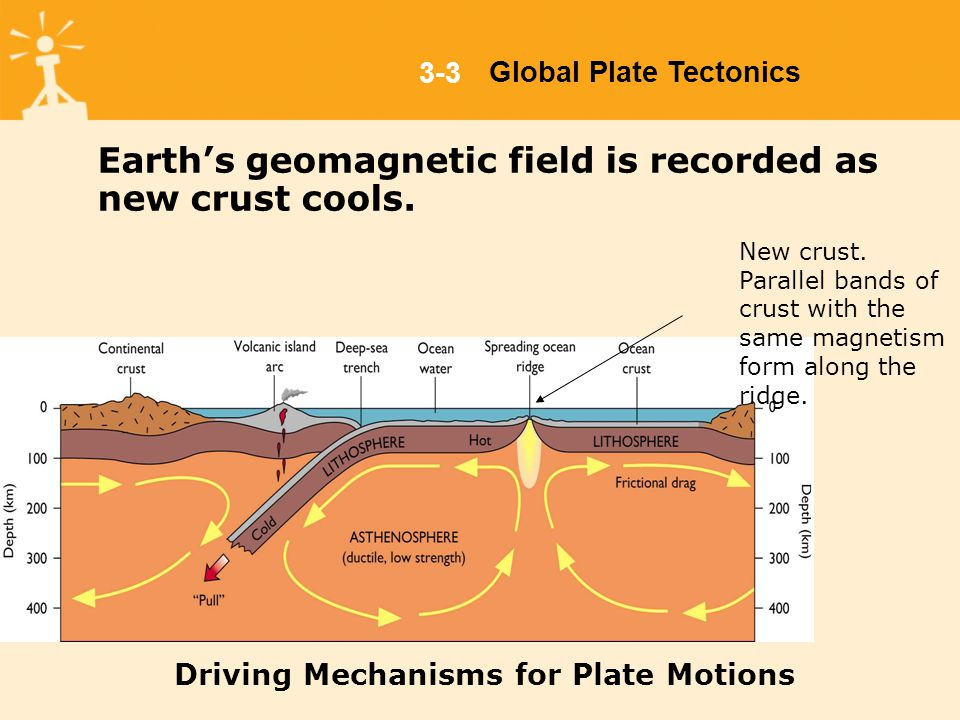 Geomagnetic Polarity Reversals When new crust materials crystallizes, some minerals align themselves with Earth's magnetic field, as it exists at that time, imparting a permanent magnetic field, called paleomagnetism, to the rock.