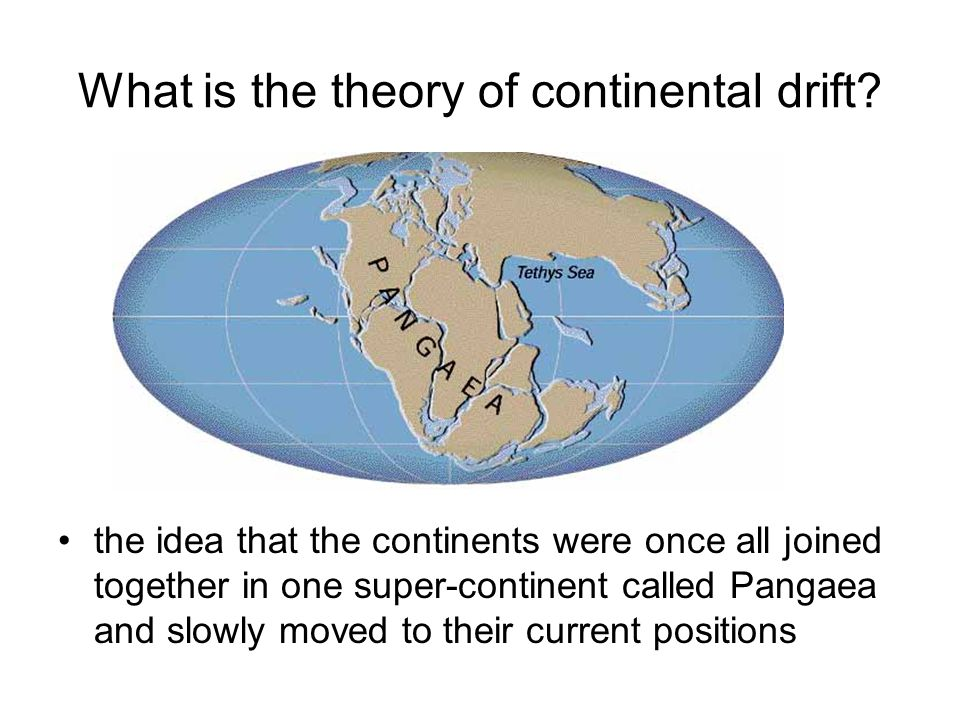 What is the theory of continental drift.