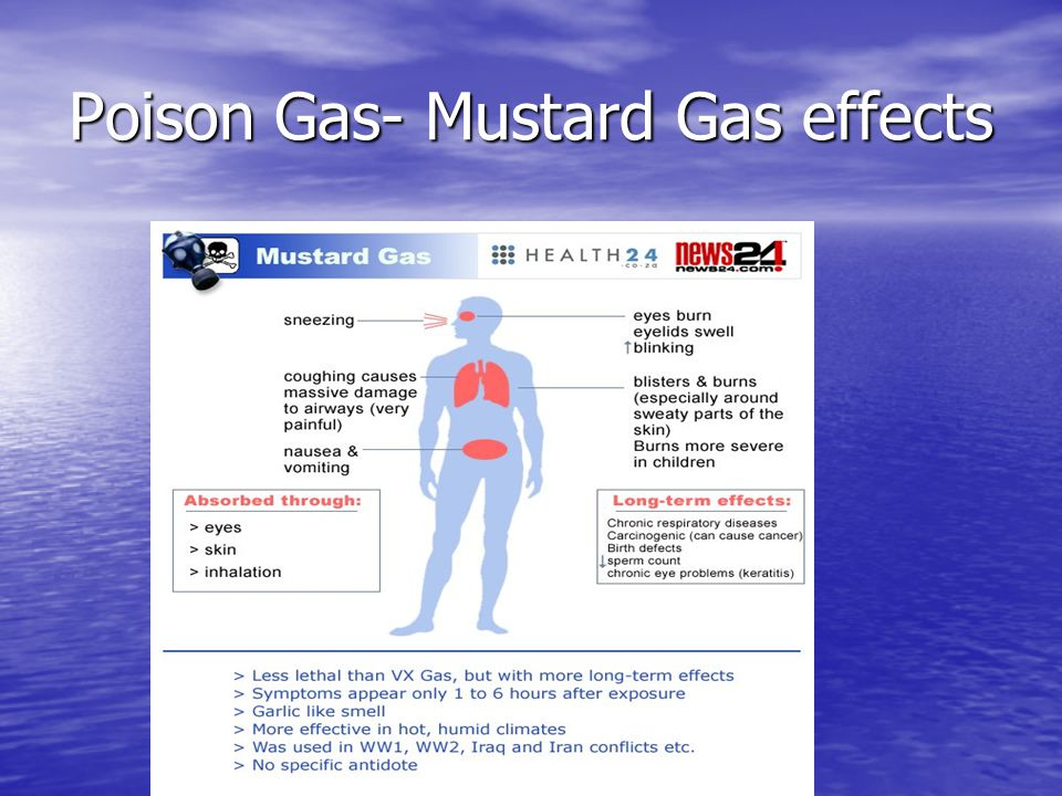 Poison Gas- Mustard Gas effects