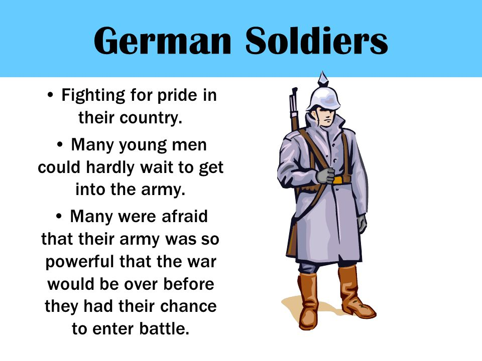 German Soldiers Fighting for pride in their country.