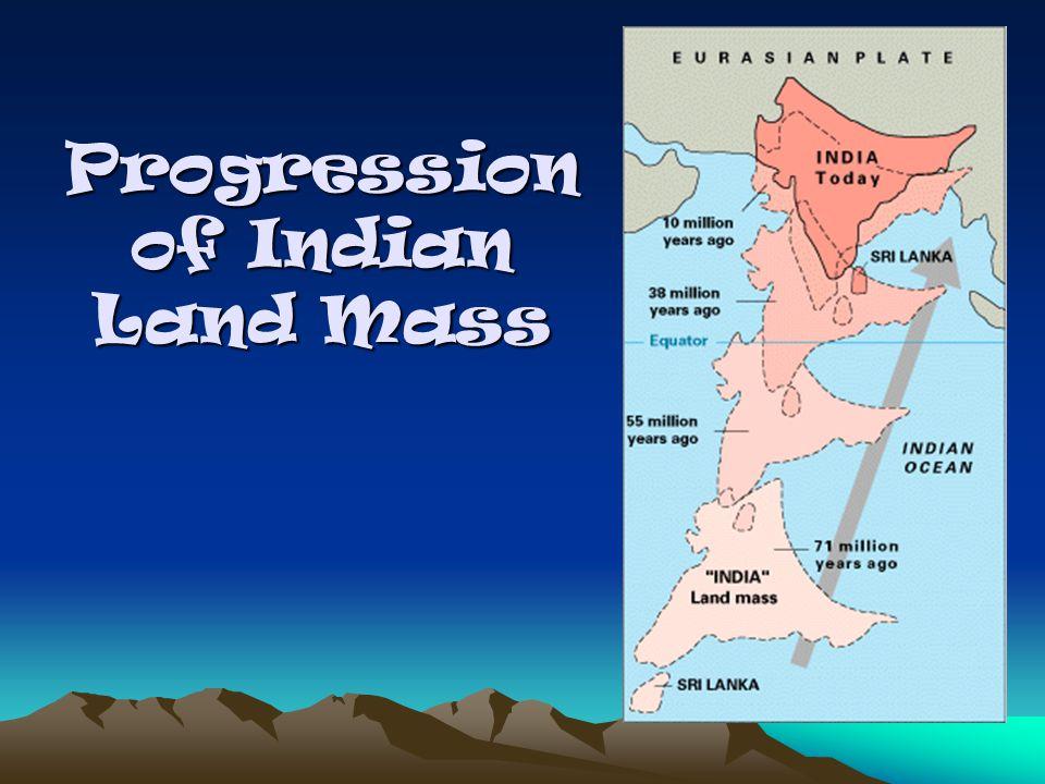 Progression of Indian Land Mass