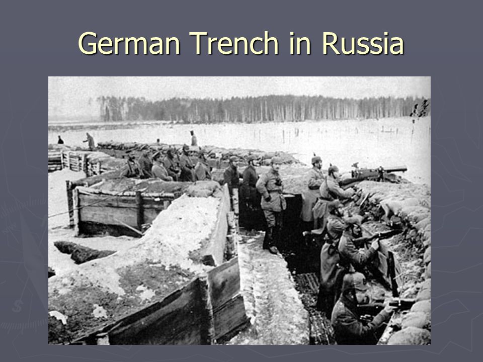 German Trench in Russia