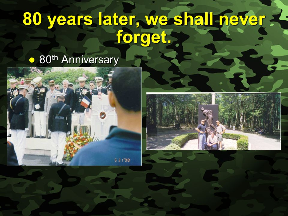 Slide 39 80 years later, we shall never forget. 80 th Anniversary 80 th Anniversary