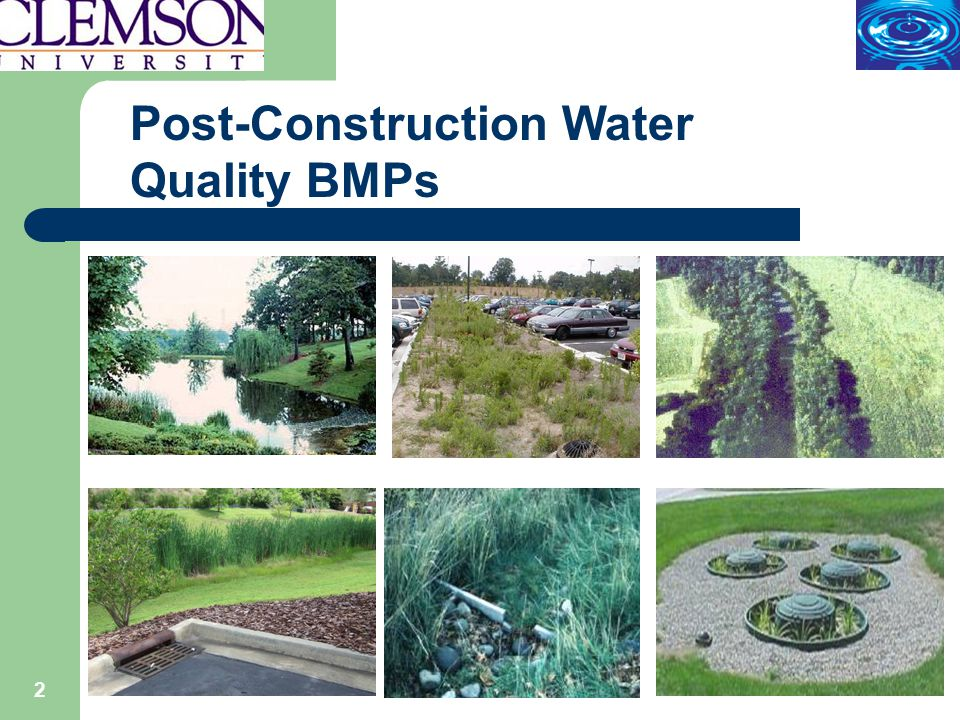 2 Post-Construction Water Quality BMPs