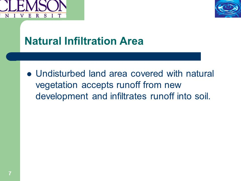 8 Natural Infiltration Area