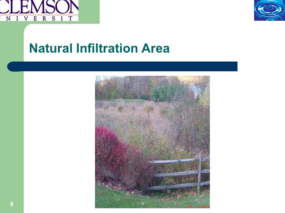 19 Infiltration - Pervious Materials, Pavers and Concrete Alternatives to conventional surface materials Increases chances for infiltration Can be used in combinations Pavers can be expensive Maintenance…!!!.