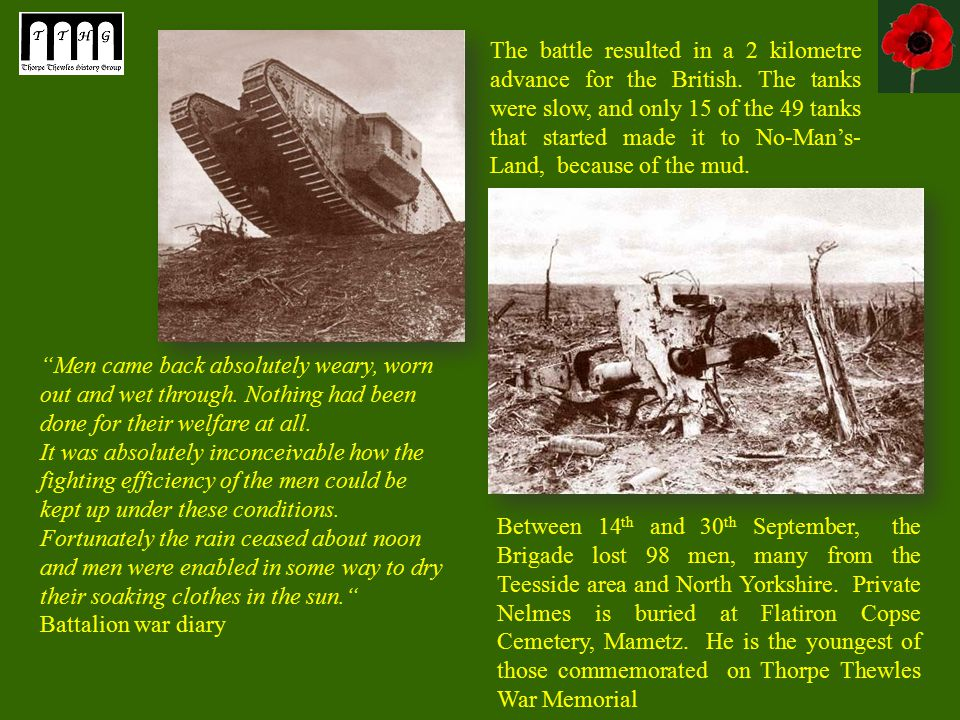 The battle resulted in a 2 kilometre advance for the British.