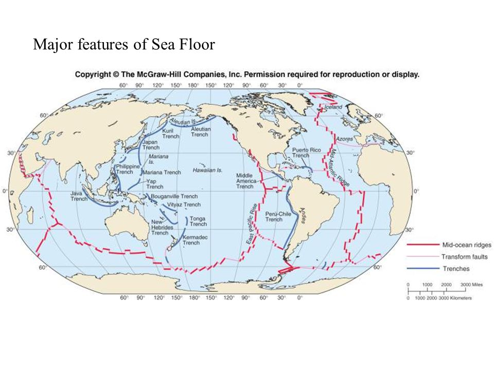 Major features of Sea Floor