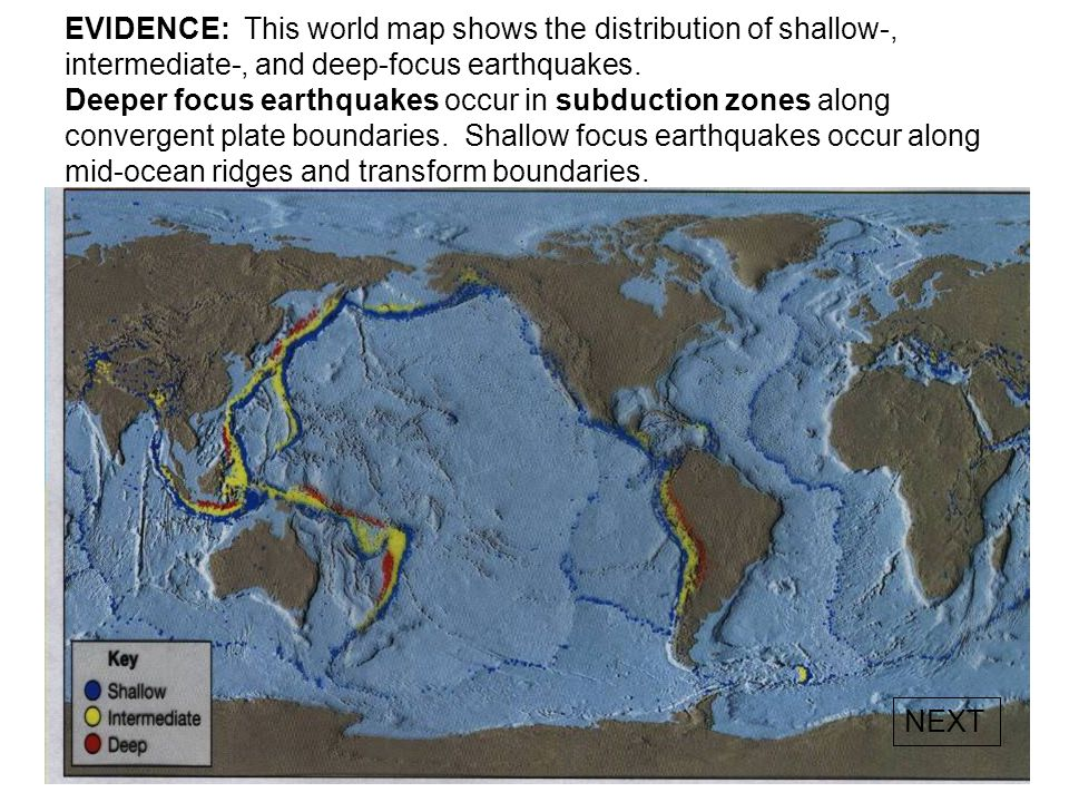 WORLD MAP – TECTONIC PLATE BOUNDARIES Study the three types of tectonic plate boundaries shown below. Locate these boundaries on the map on pg. 5 in y