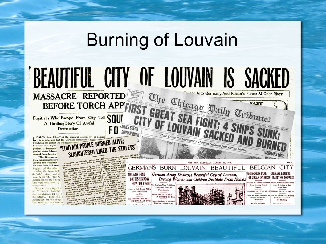 Burning of Louvain