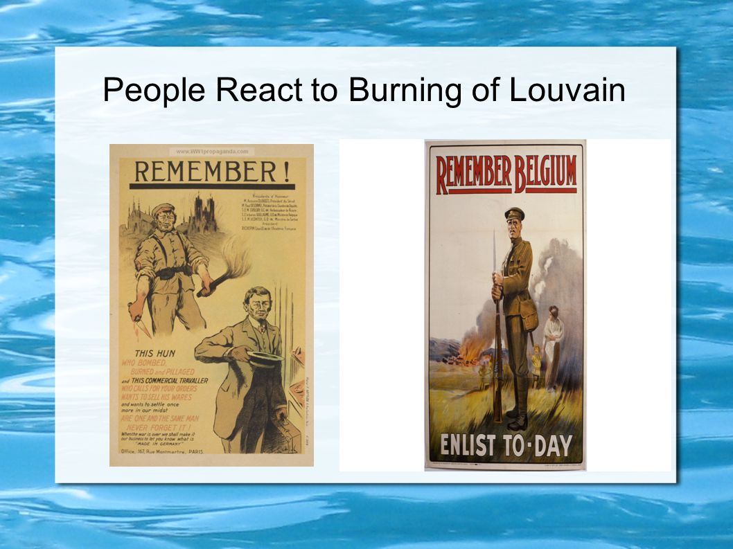 People React to Burning of Louvain