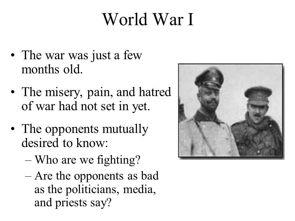 World War I The war was just a few months old.