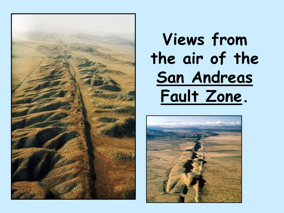Views from the air of the San Andreas Fault Zone.