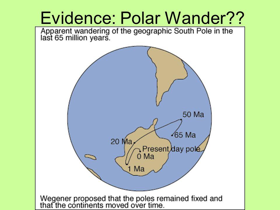 Evidence: Polar Wander??