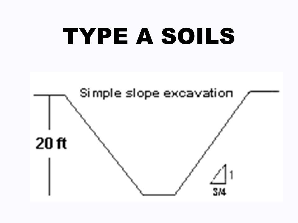 TYPE A SOILS