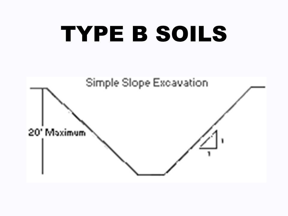 TYPE B SOILS