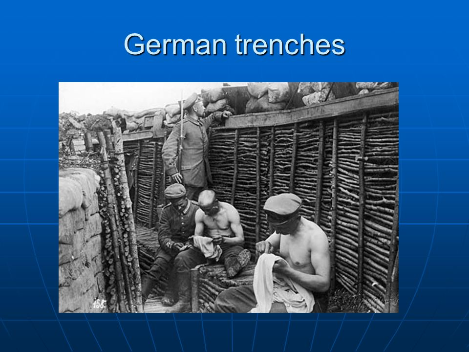 German trenches